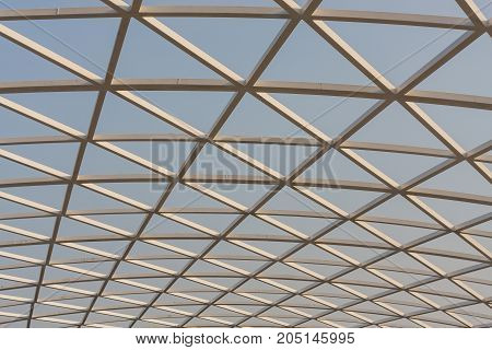 Modern Architecture Building Exterior Structure Design With Steel.