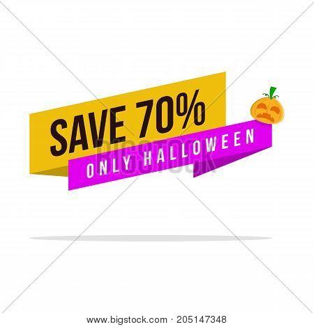 Collection Halloween big sale vector art illustration
