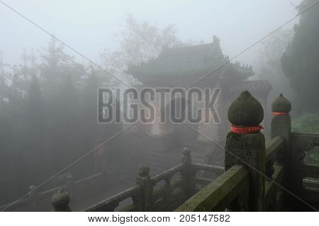 Many Taoist monasteries to be found thereIt's world heritate and famous in one of China. This here have a good weather somethime it a lot of the fog. And here is somewhere in Wudang temple area.
