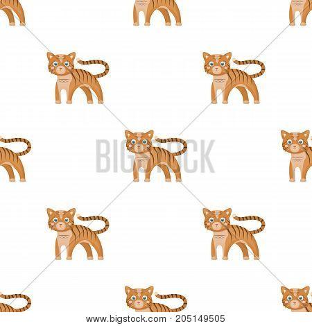 Tiger, single icon in cartoon style.Tiger, vector symbol stock illustration .