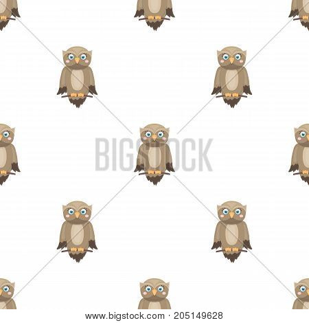 Owl, single icon in cartoon style.Owl, vector symbol stock illustration .