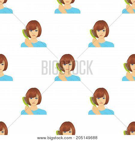 Hair, single icon in cartoon style.Hair, vector symbol stock illustration .