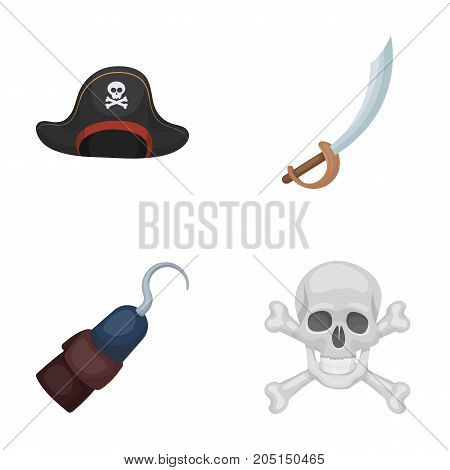 Pirate, bandit, cap, hook .Pirates set collection icons in cartoon style vector symbol stock illustration .