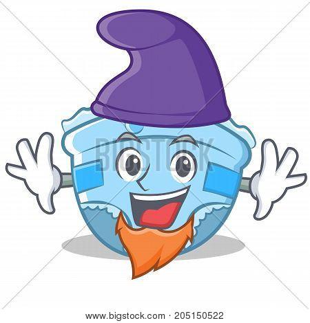 Elf baby diaper character cartoon vector illustration