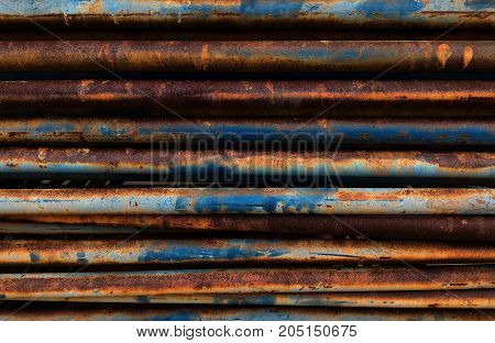 detail rusty equipment of scaffold for background