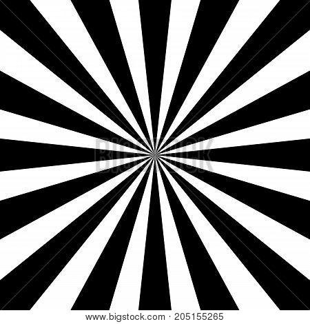 Black and white sunburst pattern. Vector illustration