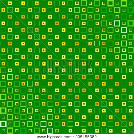 Abstract background with colorful squares and thickness gradient