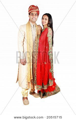 Indian Couple In Traditional Wear.