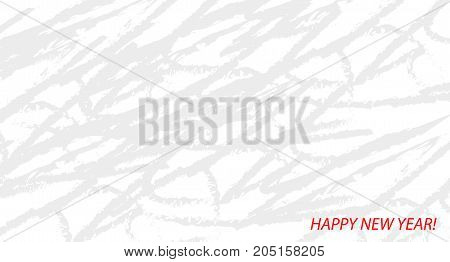 Happy New Year white and grey abstract background for greeting card invitation poster flyer.
