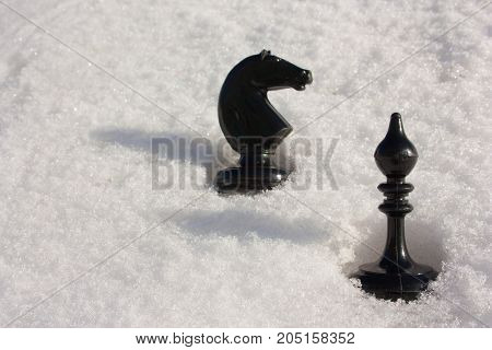 Business Game Concept. Black Chess
