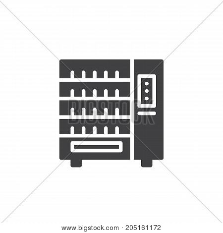 Vending machine icon vector, filled flat sign, solid pictogram isolated on white. Symbol, logo illustration.