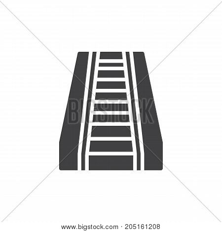 Escalator icon vector, filled flat sign, solid pictogram isolated on white. Symbol, logo illustration.