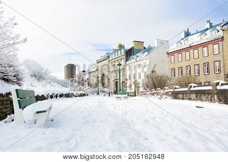 A Quebec City streets in one of the most pupular city in canada