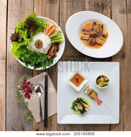 Asian cuisine: lunch, served for one person