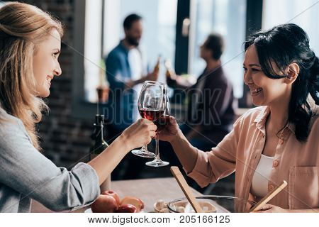 Female Friends Drinking Wine