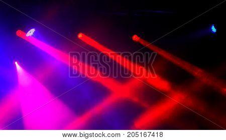 Stage lights on concert. Concert light show