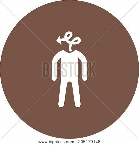 Person, office, indirect icon vector image. Can also be used for Personality Traits. Suitable for mobile apps, web apps and print media.
