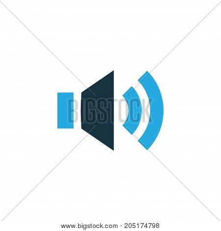 Premium Quality Isolated Volume Element In Trendy Style.  Sound Colorful Icon Symbol.