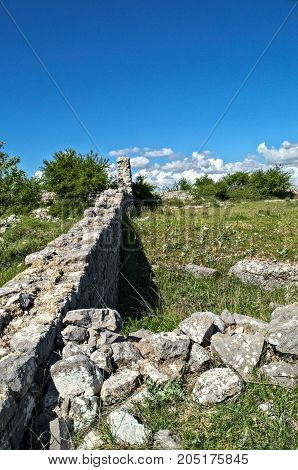 Remaining of wall on Bribir fortress, Dalmatia