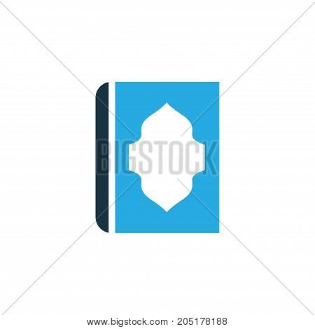 Premium Quality Isolated Koran Element In Trendy Style.  Holy Book Colorful Icon Symbol.