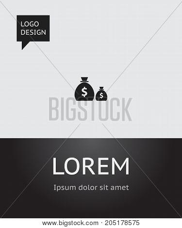 Vector Illustration Of Finance Symbol On Sack Icon