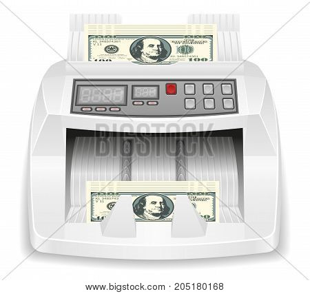 money counter stock vector illustration isolated on white background