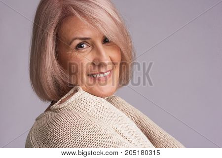 Portrait Of A Beautiful Older Woman Smiling