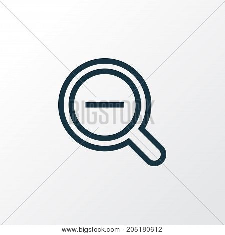 Premium Quality Isolated Magnifying Element In Trendy Style.  Zoom Out Outline Symbol.