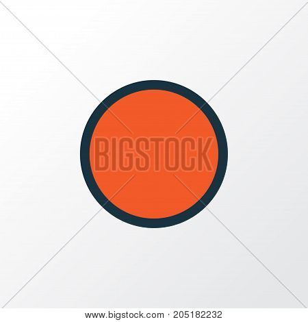 Premium Quality Isolated Circle Element In Trendy Style.  Record Colorful Outline Symbol.