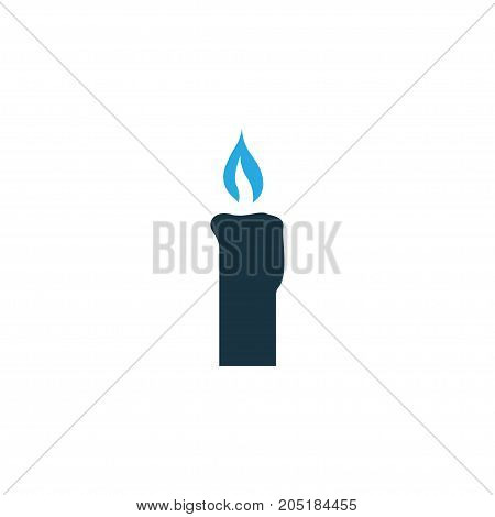 Premium Quality Isolated Fire Wax Element In Trendy Style.  Candle Colorful Icon Symbol.