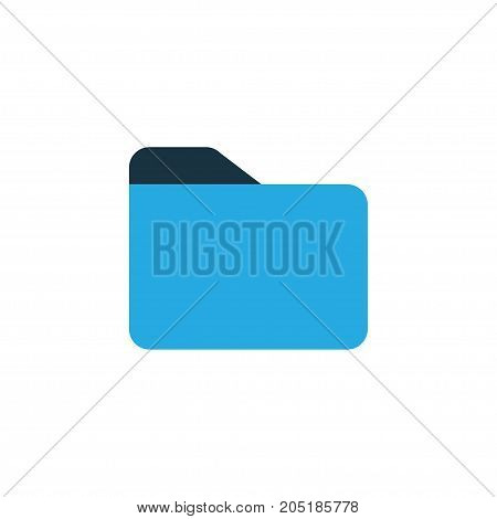 Premium Quality Isolated Dossier Element In Trendy Style.  Folder Colorful Icon Symbol.