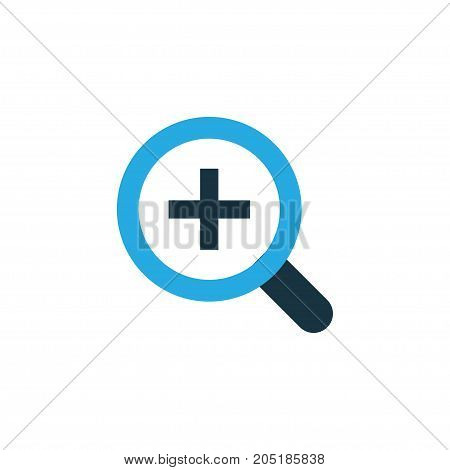 Premium Quality Isolated Zoom In Element In Trendy Style.  Magnifier Colorful Icon Symbol.