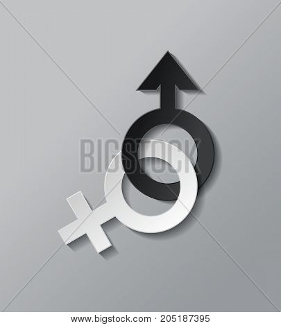 Sex icon black and white.male and female.