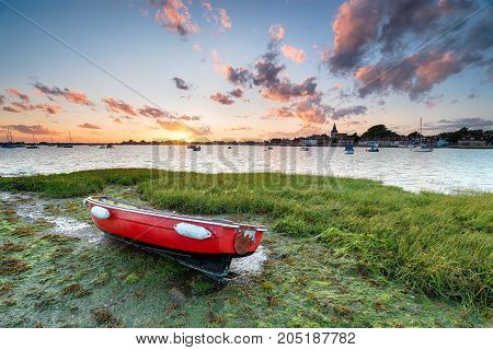 Sunset at Bosham on the West Sussex coast near Chichester