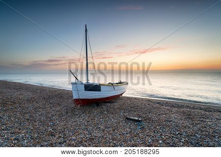 Fishing Boat At Dungeness Beach