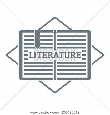 Literature logo. Simple illustration of literature vector logo for web