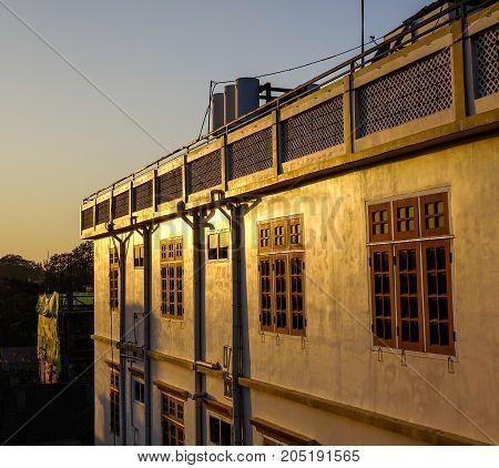 Sunset On Downtown Of Pyin Oo Lwin, Myanmar