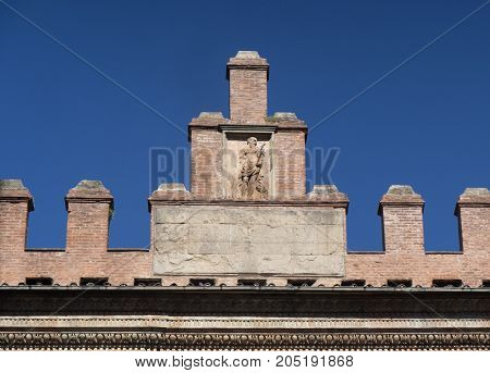 Bologna (Emilia Romagna Italy): historic buildings in a sunny morning