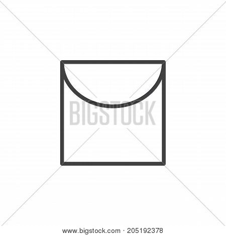 Laundry line icon, outline vector sign, linear style pictogram isolated on white. Symbol, logo illustration. Editable stroke