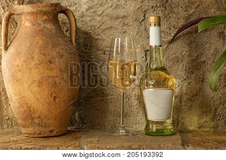 White Wine And Old Jug