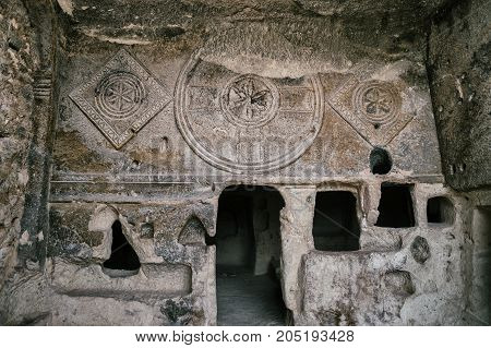 Ancient Christian church in the Goreme National Park Cappadocia Turkey