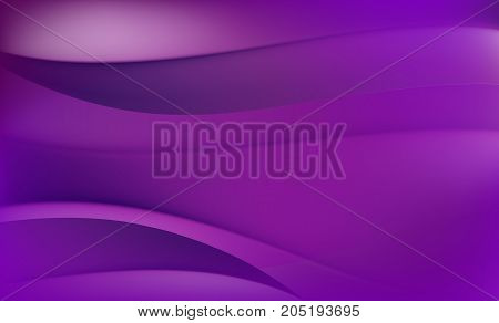 Abstract Background with Purple and Violet Waves.