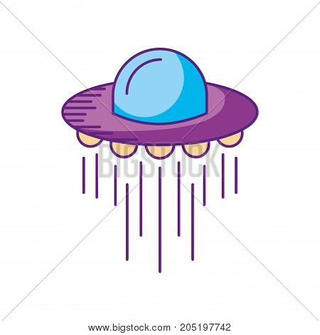 ufo flying saucer technology science transport vector illustration