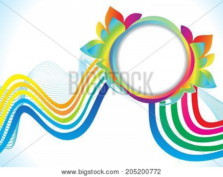 abstract artistic creative rainbow explode vector illustration