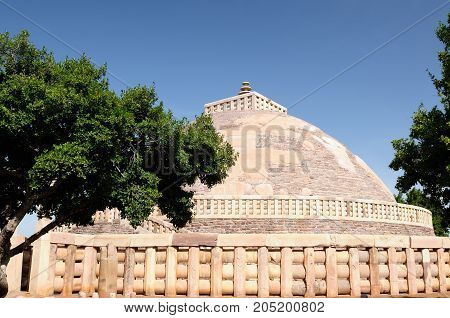 Great Buddhist Stupa in Sanchi Madhya Pradesh India