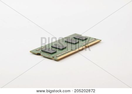 Image Of A Ram Memory On A White Background. Equipment And Computer Hardware