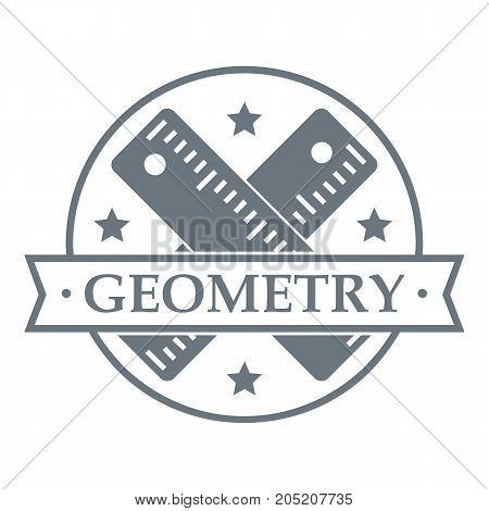 Geometry logo. Simple illustration of geometry vector logo for web
