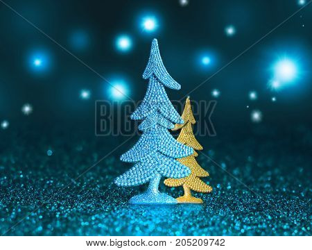 Christmas tree and Christmas decoration background. Merry Christmas.