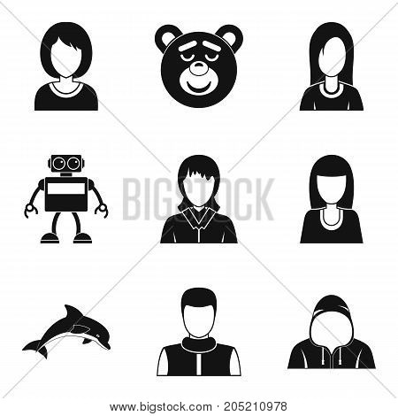 Impostor icons set. Simple set of 9 impostor vector icons for web isolated on white background