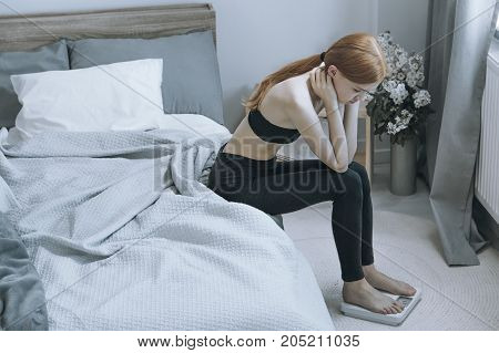 Underweight Red Hair Woman